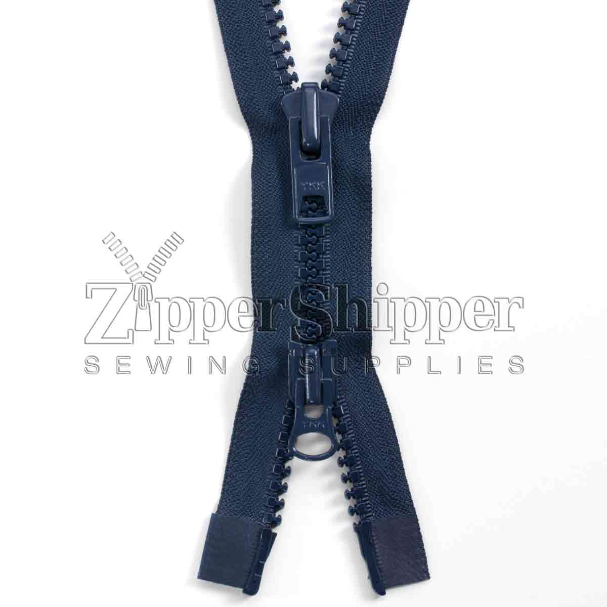 #10 Molded Plastic Heavy Duty Two-Way Separating (Jacket) Zipper - ZIPMP10-200