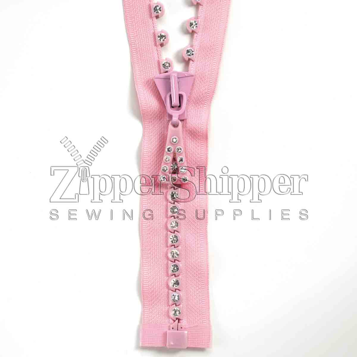 rhinestone zipper large stone single row 1