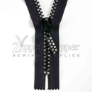 Rhinestone Small Stone Two Row Zipper (Closed-End and Separating)