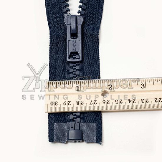 Molded Plastic Zipper With Ruler on Jacket Zipper Repair Parts