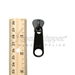 #10 Zipper Pull Tab for Molded Plastic Zipper Nonlock Black