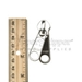 #10 Non-lock Two Handle Double Pull Tab Slider For Nylon Coil Zipper - Stainless Steel