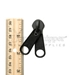 #10 Non-lock Two Handle Double Pull Tab Slider For Nylon Coil Zipper - Black