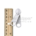 #10 Non-lock Two Handle Double Pull Tab Slider For Nylon Coil Zipper - White