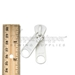 #10 Zipper Slider for Molded Plastic Zipper Nonlock Two Handle White