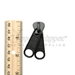 #10 Zipper Slider for Molded Plastic Zipper Nonlock Two Handle Black