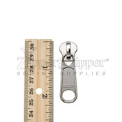 #10 Zipper Slider For Metal Nonlock Silver Nickel