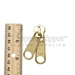 #10 Two-Handle Double Pull Reversible Slider For Metal Zipper - Brass Gold