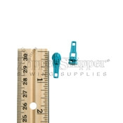 3 Zipper Slider For Nylon Coil Reverse Bale Turquoise