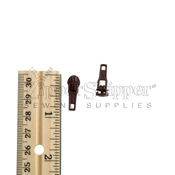 3 Zipper Slider For Nylon Coil Reverse Bale Dark Wine