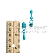 3 Zipper Slider For Nylon Coil Teardrop Reverse Bale Turquoise