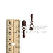 3 Zipper Slier For Nylon Coil Teardrop Pull Dark Wine