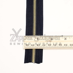 #5 Brass Continuous Zipper Chain By The Yard