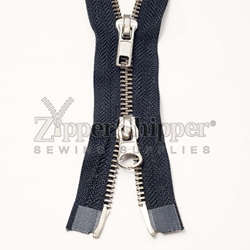 #5 Nickel Separating Two-Way (Jacket) Zipper