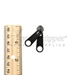 #5 Non-lock Two Handle Double Pull Slider For Nylon Coil Zipper - Black