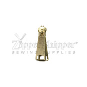 #5 Nonlock Two-Handle Slider for Metal Zipper - Brass
