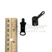 #5 Reversible Swingaround Pull Tab Slider for Molded Plastic Zipper Black