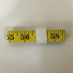 120 Inch Tape Measure With 1/8 Inch Markings - Black On Yellow