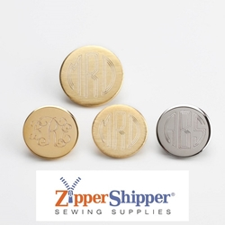 Monogrammed Custom Men's Blazer Buttons – Engraved Set of Brass Gold Or Silver Metal Buttons
