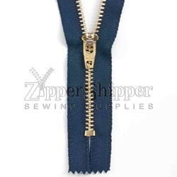 #5 Brass Closed-End (Jean) Zipper
