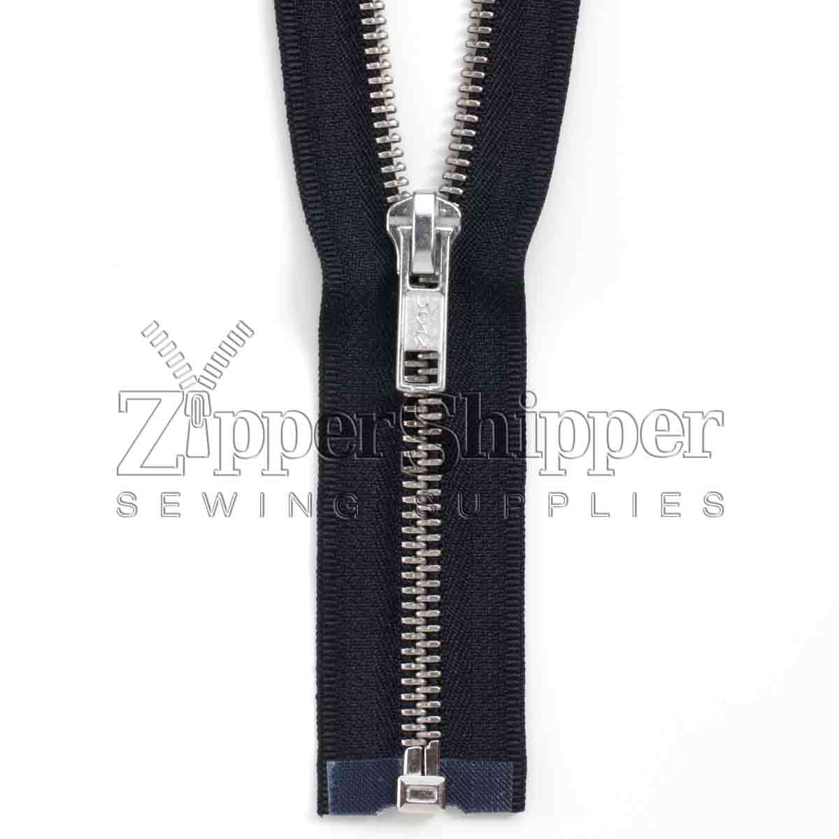 #5 Nickel Separating Bottom (Jacket) Zipper