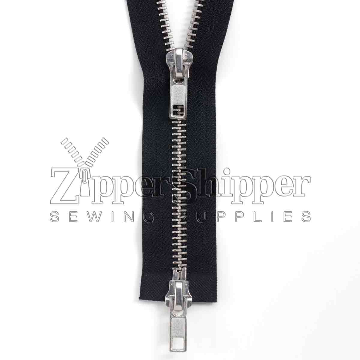 #5 Aluminum Two-Way Separating Bottom (Jacket) Zipper