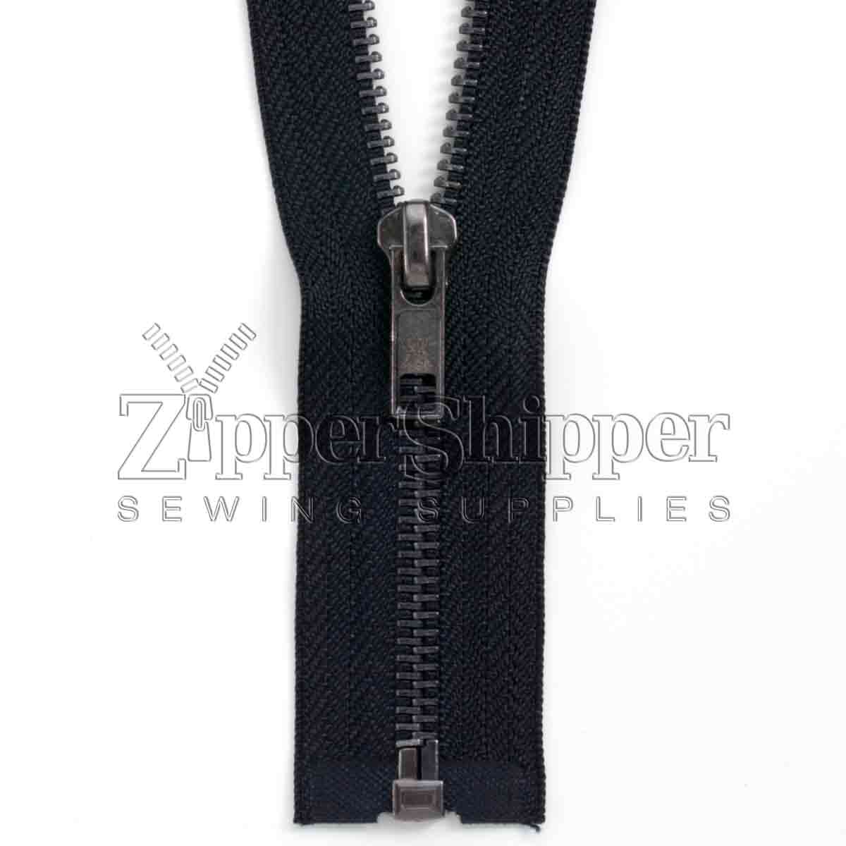 #5 Black Oxidized Nickel / Gunmetal Separating Bottom (Jacket) Zipper
