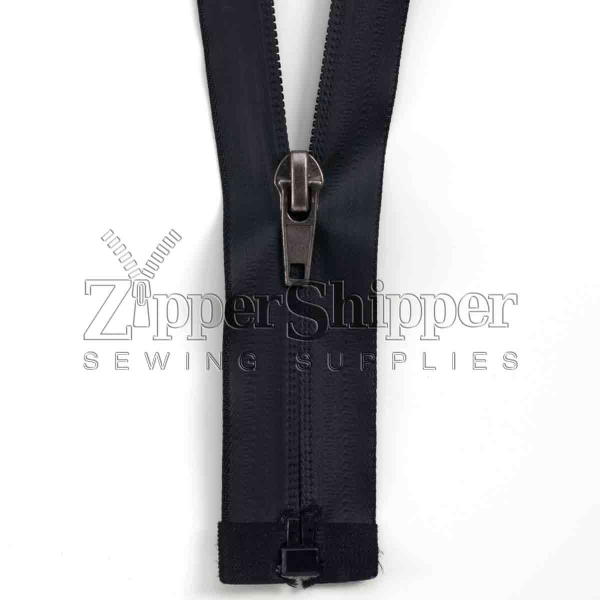 Water Resistant #7 Coil Separating Bottom Zipper