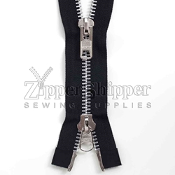 #10 Aluminum Heavy Duty Two-Way Separating Bottom (Jacket) Zipper