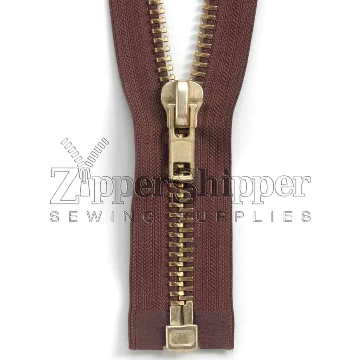 #10 Brass Heavy Duty Separating Bottom (Jacket) Zipper