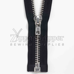 #10 Nickel Heavy Duty Separating Bottom (Jacket) Zipper