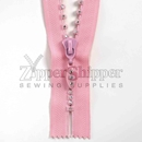 Rhinestone zipper small stone single row